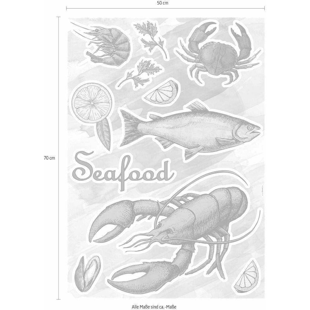 Komar Wandtattoo »Seafood«, selbstklebend, rückstandslos abziehbar