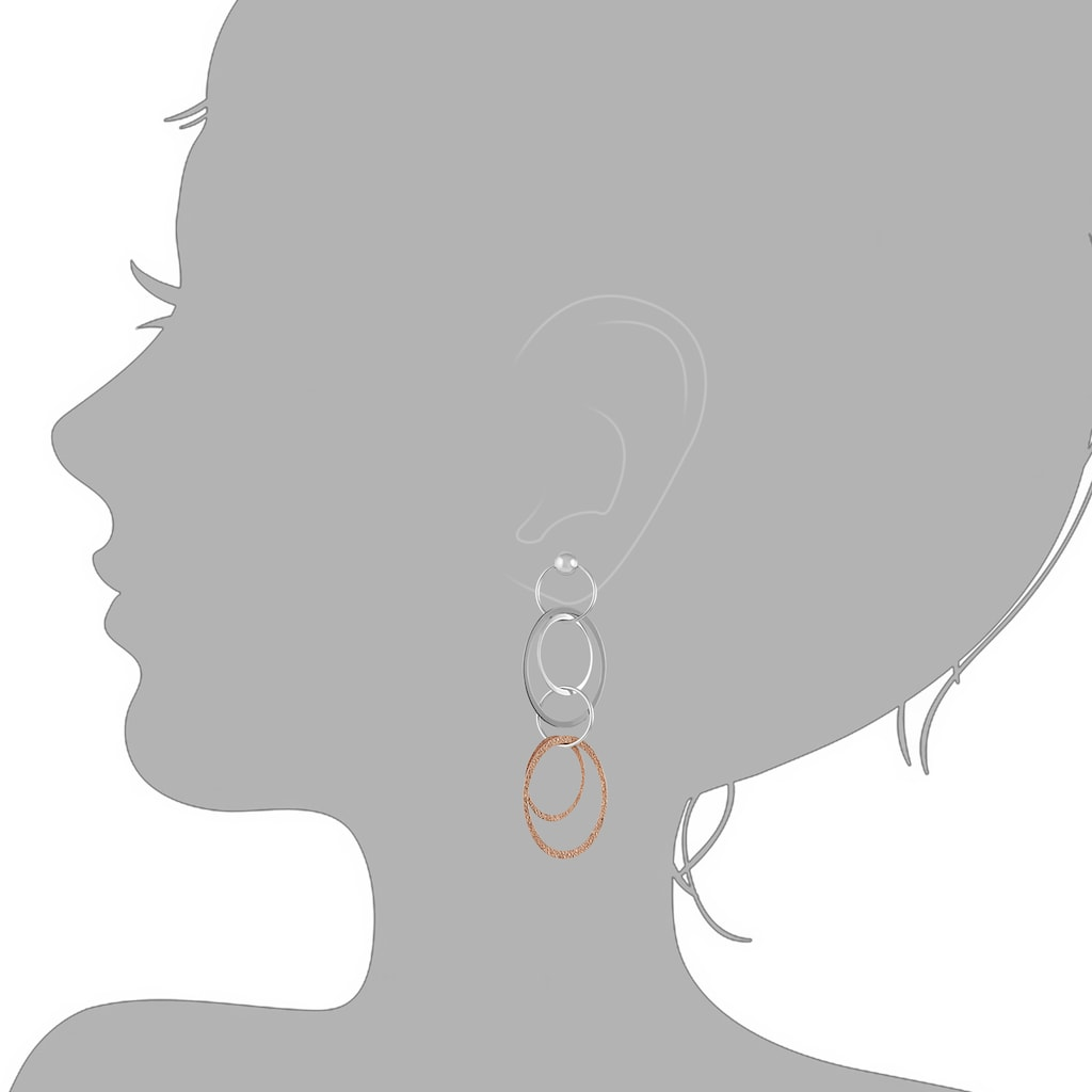 Vivance Paar Ohrhänger »925/- Sterling Silber zweifarbig«, Ohrhänger