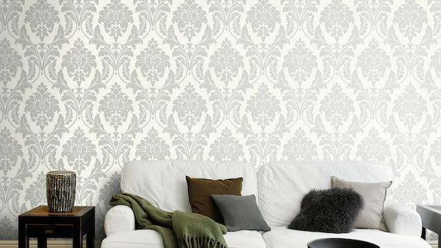 Vliestapete mit ornamentalem Muster