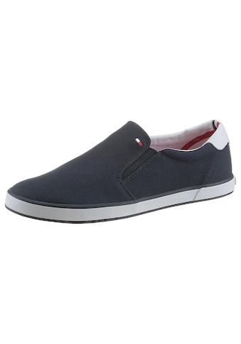 Tommy Hilfiger Slip-On Sneaker »ICONIC SLIP ON SNEAKER«, mit seitlichen Stretcheinsätzen kaufen