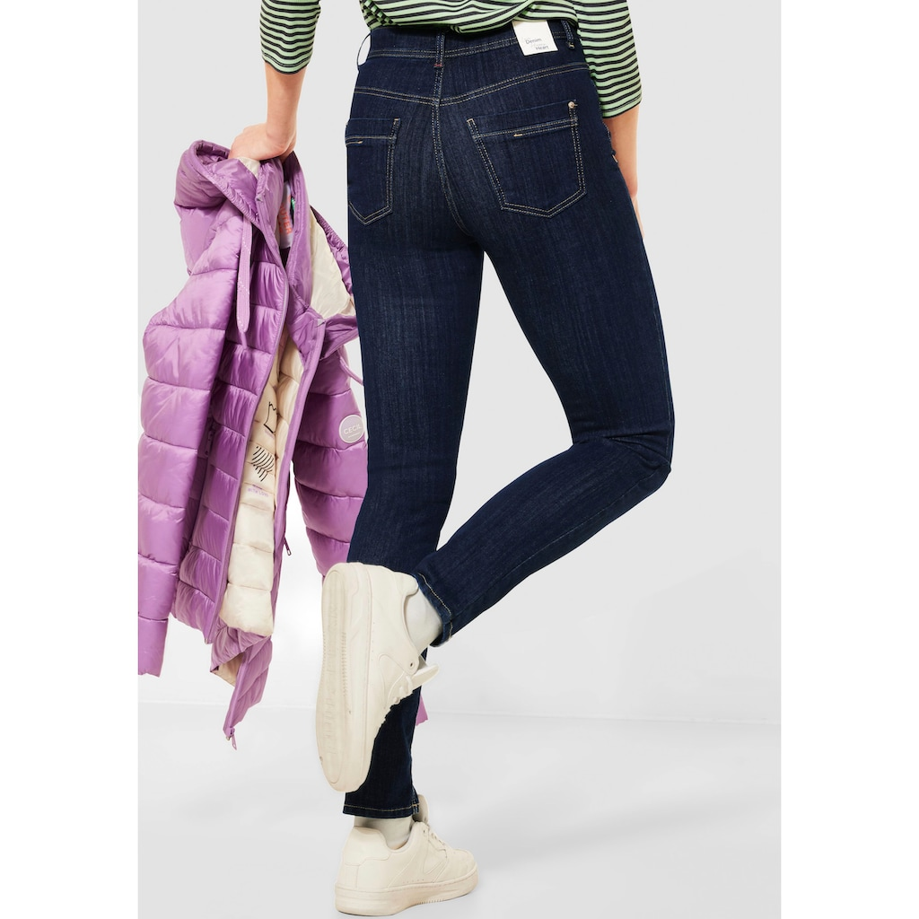 Cecil Skinny-fit-Jeans »Toronto«, in dunkler Waschung