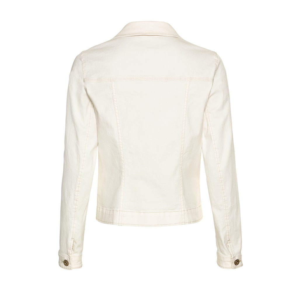 bianca Jeansjacke »JUNE«, im cleanen Look mit modernem Hemdkragen
