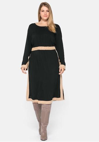 Sheego Blusenkleid, mit Kontrastdetails kaufen