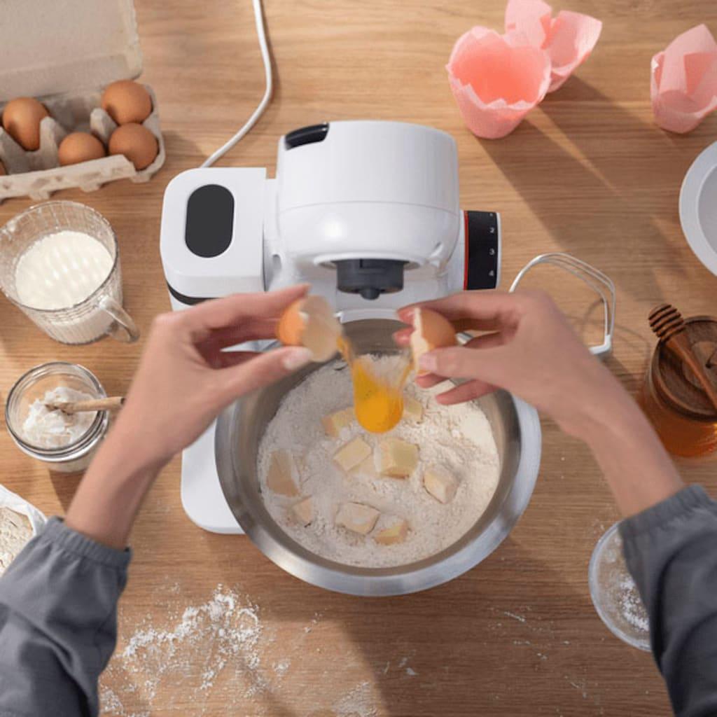 BOSCH Küchenmaschine »MUMS2EW00 MUM Serie 2«, vielseitig einsetzbar, Patisserieset Edelstahl, weiß