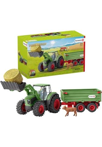 """Schleich® Spielzeug - Traktor """"Farm World, Traktor mit Anhänger (42379)"""" (Set) kaufen"""