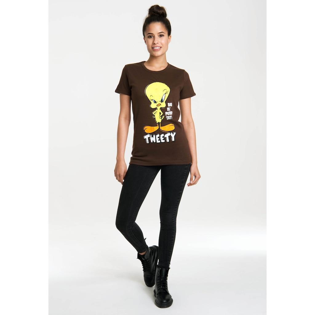 LOGOSHIRT T-Shirt »Looney Tunes – Tweety«, mit lizenzierten Originaldesign