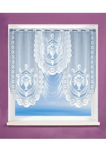 WILLKOMMEN ZUHAUSE by ALBANI GROUP Gardine »Rostock«, HxB: 100x150, Jacquard Fensterbild kaufen
