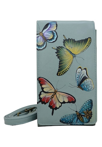 ANUSCHKA Brieftasche »Heaven aus handbemaltem Leder«, mit abnehmbarem Schulterriemen kaufen