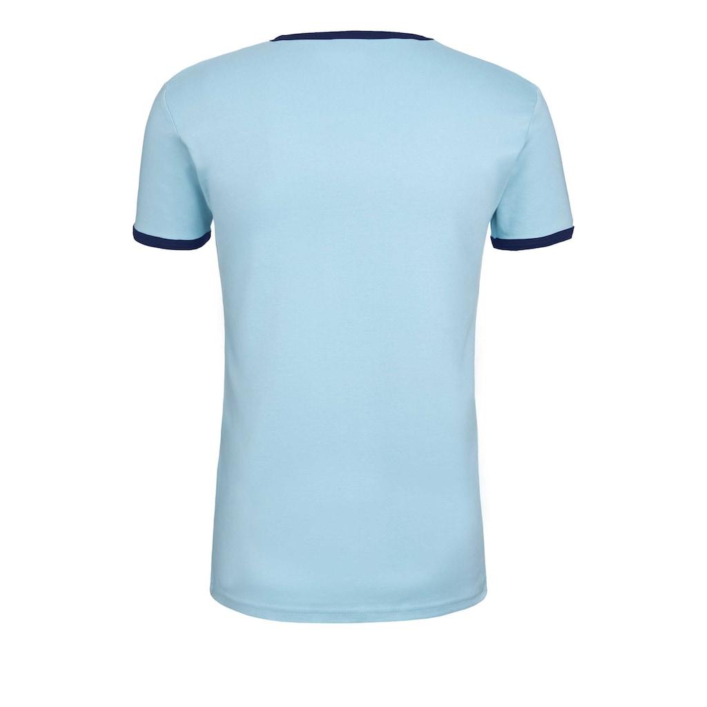 LOGOSHIRT T-Shirt mit farblich abgesetzten Bündchen