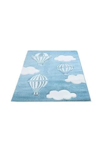 Carpet City Kinderteppich »Bueno Kids 1456«, rechteckig, 13 mm Höhe, Heißluftballon, handgearbeiteter Konturenschnitt kaufen