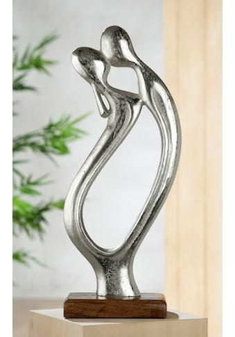GILDE Dekofigur »Skulptur Figura Der Kuss«, Dekoobjekt, Höhe 43 cm, aus Metall, Sockel... kaufen