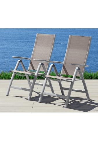 MERXX Gartenstuhl »Amalfi«, (2er Set), Alu/Textil, verstellbar kaufen