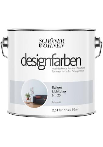SCHÖNER WOHNEN-Kollektion Wand- und Deckenfarbe »Designfarben«, Ewiges Lichtblau Nr.... kaufen