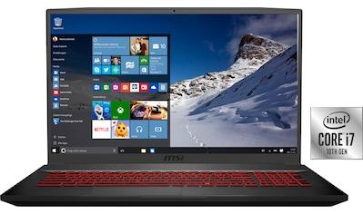 MSI GF75 10SDR - 234 Thin Gaming - Notebook (43,9 cm / 17,3 Zoll, Intel,Core i7, 1000 GB HDD, 256 GB SSD) kaufen