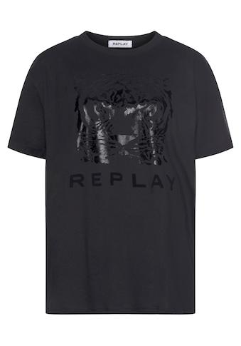 Replay T-Shirt, mit großem Animal-Print kaufen