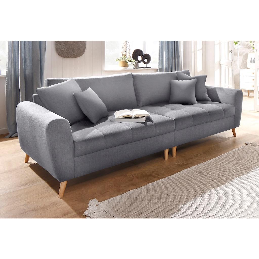 Home affaire Big-Sofa »Blackburn Luxus«, mit besonders hochwertiger Polsterung für bis zu 140 kg pro Sitzfläche