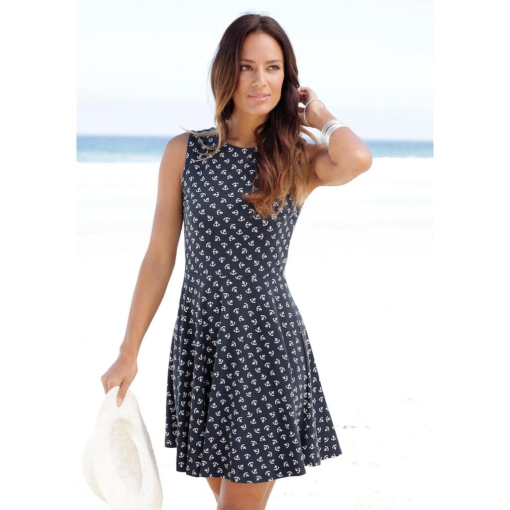 Beachtime Strandkleid, mit Ankerdruck
