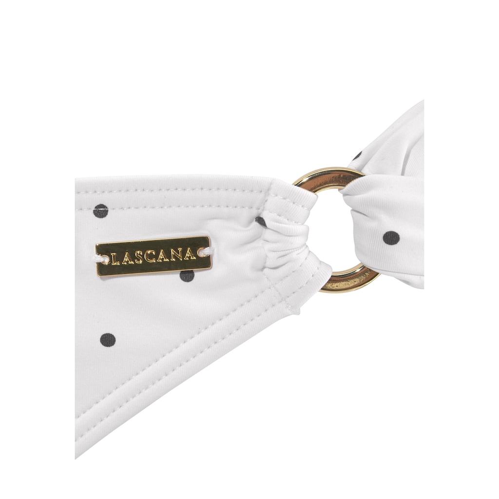 LASCANA Bikini-Hose »Sparkel«, mit Zierringen und Tupfenmuster
