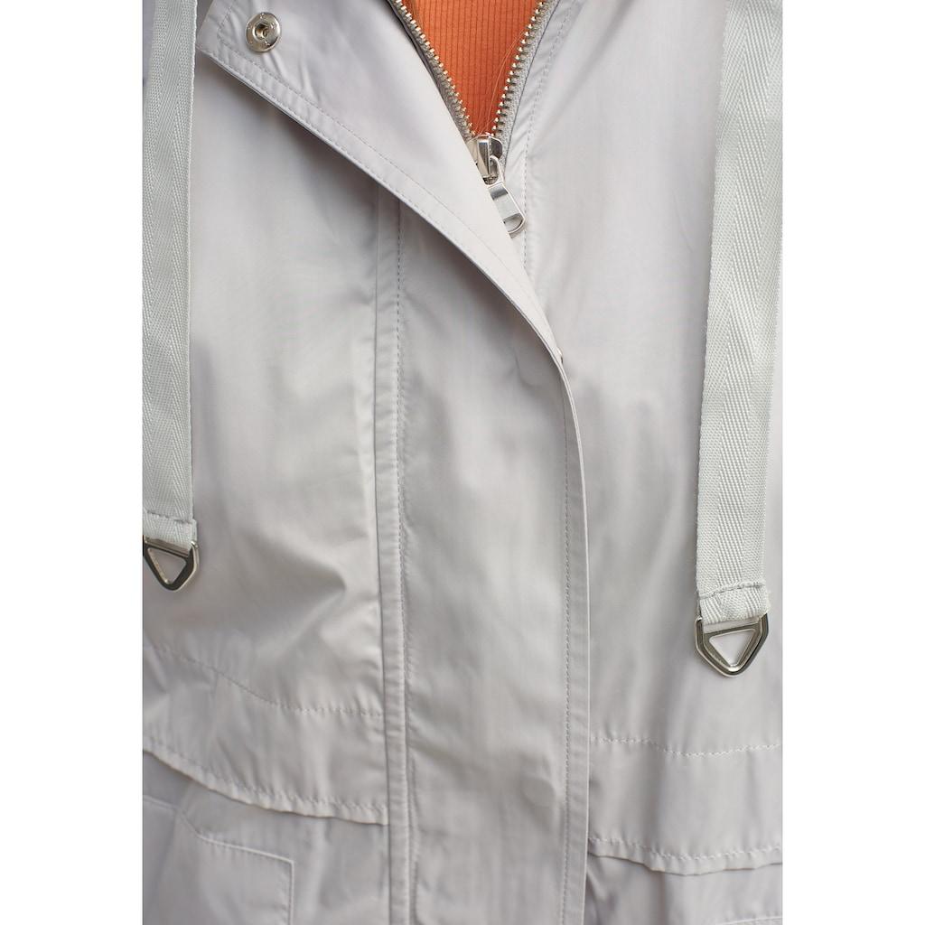 OXXO Regenjacke, mit seitlichen Eingrifftaschen und Zugbund Detail