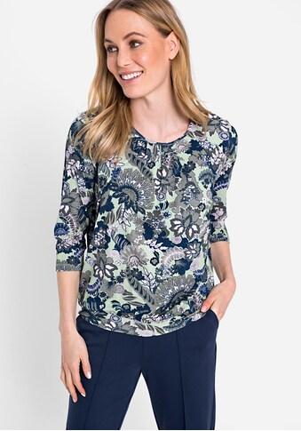 Olsen Rundhalsshirt, mit floralem Allover-Druck kaufen