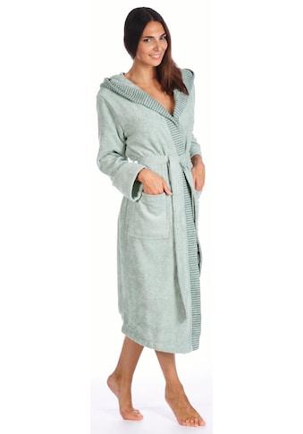 Egeria Damenbademantel »Benny«, (1 St.), mit Streifen-Bordüre kaufen