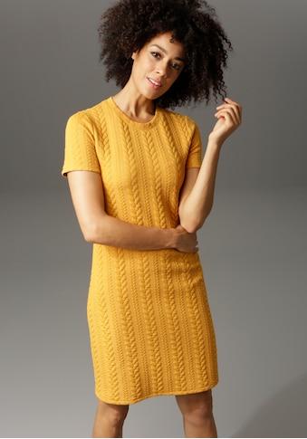 Aniston CASUAL Sweatkleid, mit Struktur-Muster kaufen