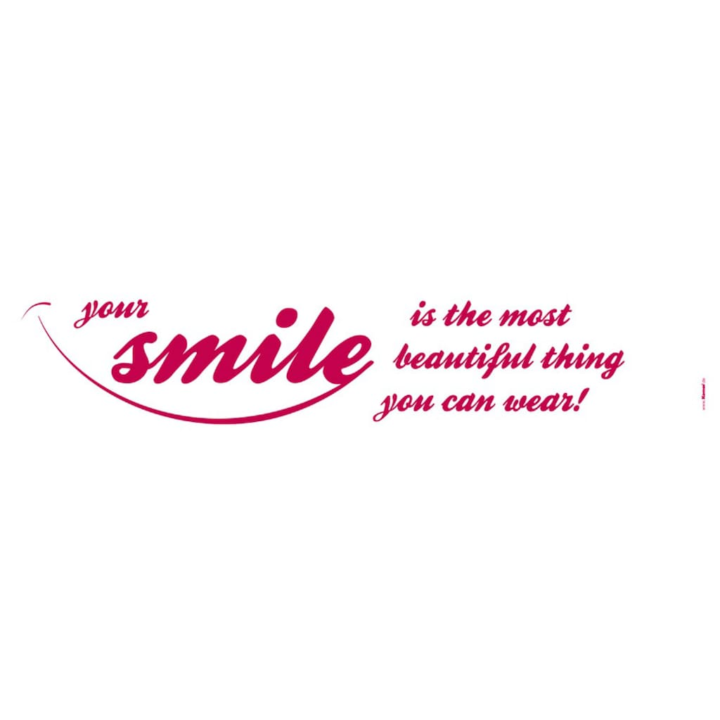 Komar Wandtattoo »Your Smile«, selbstklebend, rückstandslos abziehbar