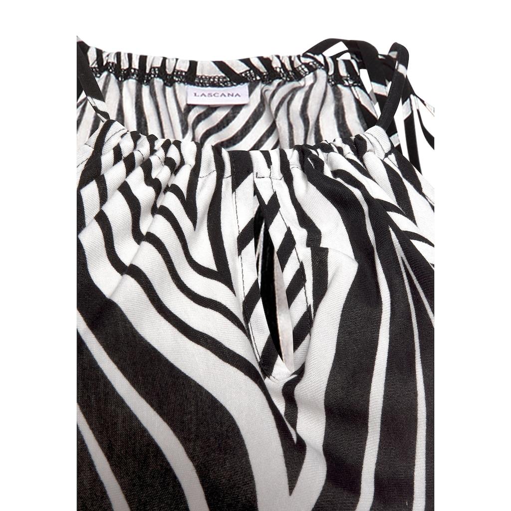 LASCANA Maxikleid, im Schwarz-Weiß-Design