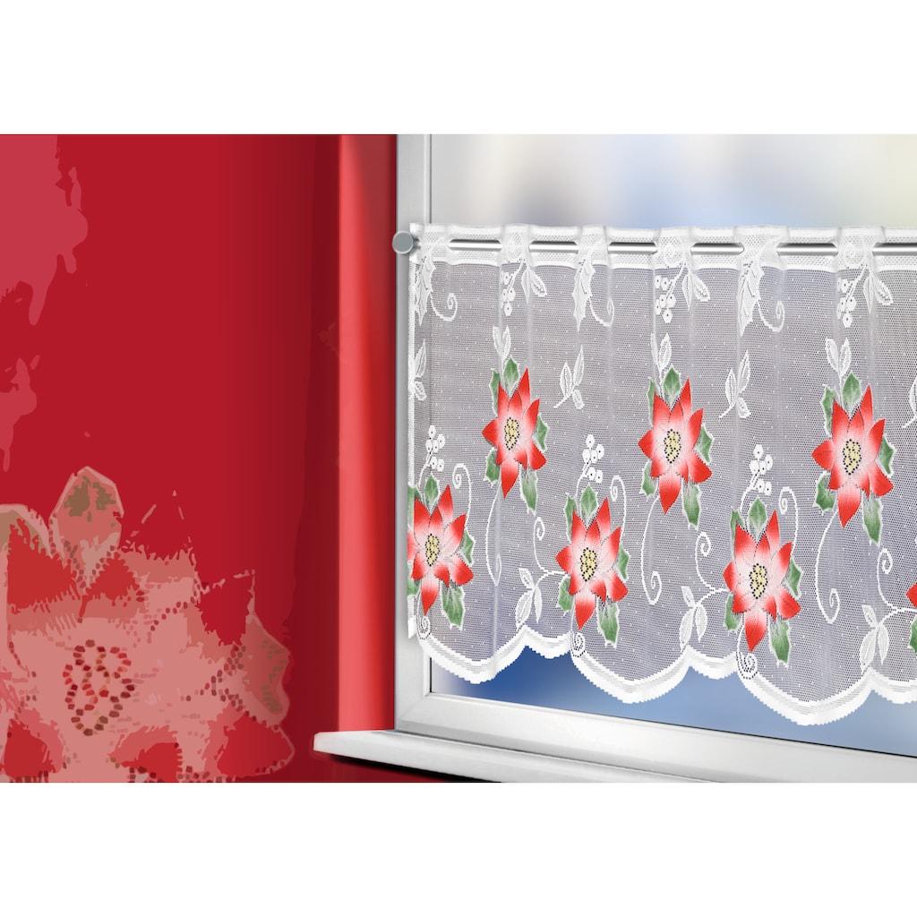 WILLKOMMEN ZUHAUSE by ALBANI GROUP Panneaux »Weihnachtsstern«, Jacquard-Panneaux, handcoloriert