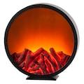 HGD Holz-Glas-Design LED-Kunststoffkamin mit Kamineffekt für Batteriebetrieb mit Time