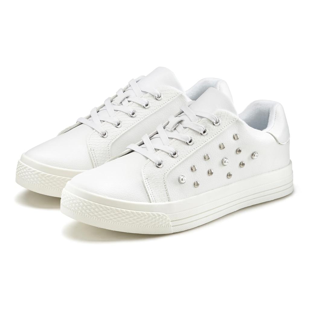 LASCANA Sneaker, mit Perlen