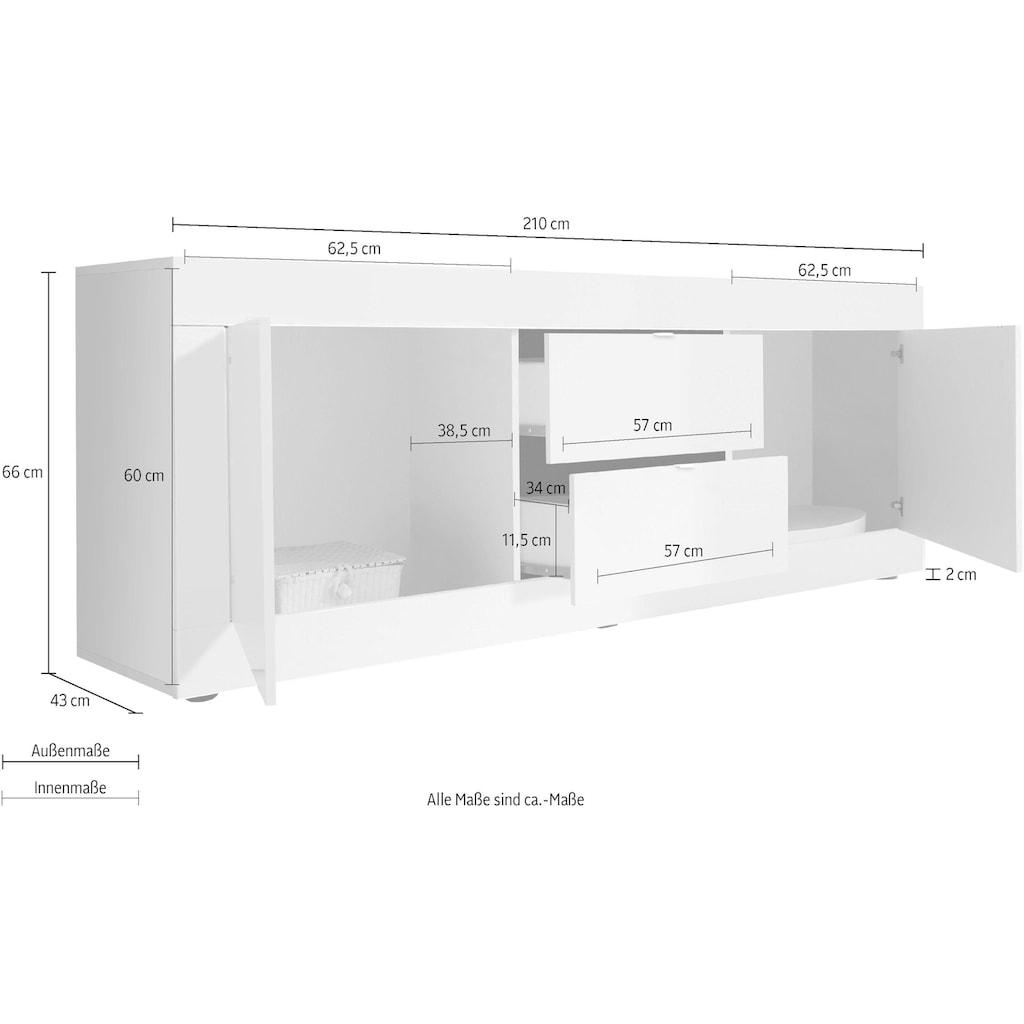 LC Lowboard »Basic«, Breite 210 cm
