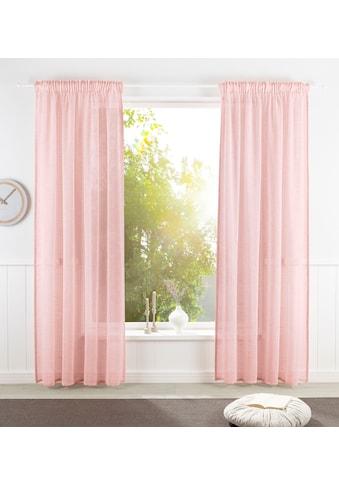 OTTO products Vorhang »Lilja«, nachhaltig, Leinen Optik, halbtransparent, monochrom kaufen