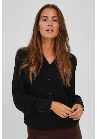 fransa Langarmbluse »FRCABRAID 1 20609666«, Modische Bluse mit V-Ausschnitt kaufen