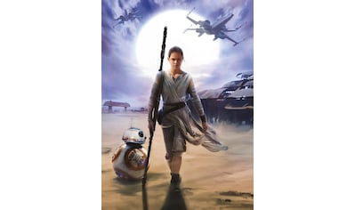 Komar Fototapete »STAR WARS Rey«, bedruckt-Comic, ausgezeichnet lichtbeständig kaufen