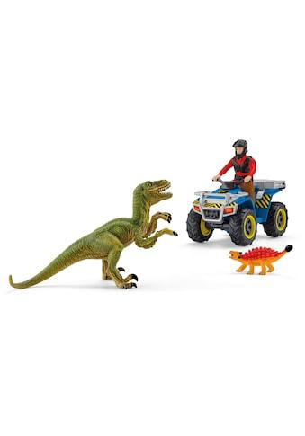 Schleich® Spielzeug-Quad »Dinosaurs, Flucht auf Quad vor Velociraptor (41466)«, Made in Europe kaufen
