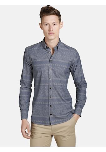 SHIRTMASTER Langarmhemd »strongethnostyle«, gedrucktes Ethno-Muster kaufen