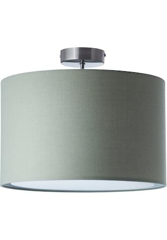 Lüttenhütt Deckenleuchte »Lüchte«, E27, Deckenlampe mit Stoffschirm grau / grün, Ø 40 cm, Höhe 32 cm kaufen