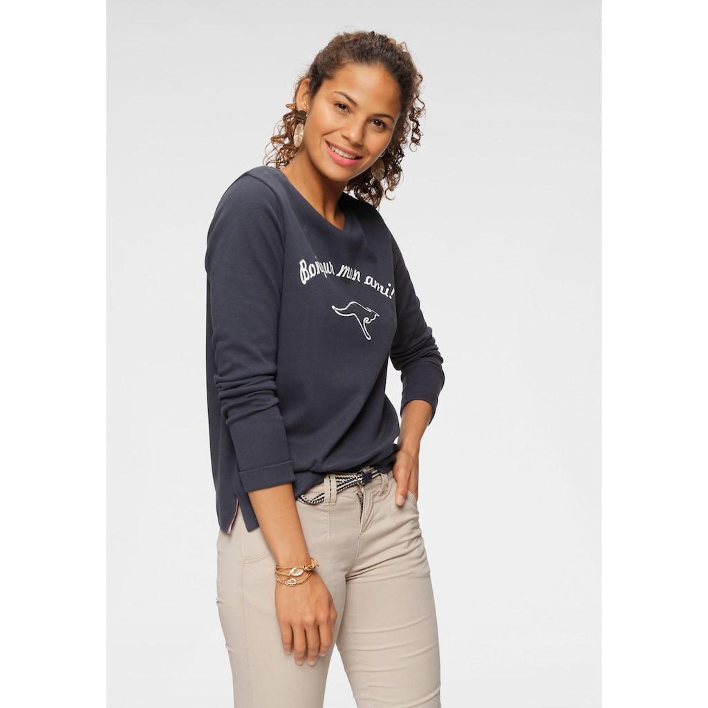 KangaROOS Sweatshirt, mit auffälligem Print
