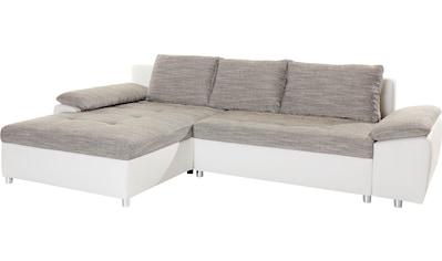 sit&more Ecksofa »Labene«, wahlweise mit Bettfunktion und Bettkasten, inklusive loser... kaufen