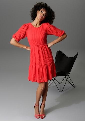 Aniston CASUAL Sommerkleid, aus strukturiertem Jersey - NEUE KOLLEKTION kaufen