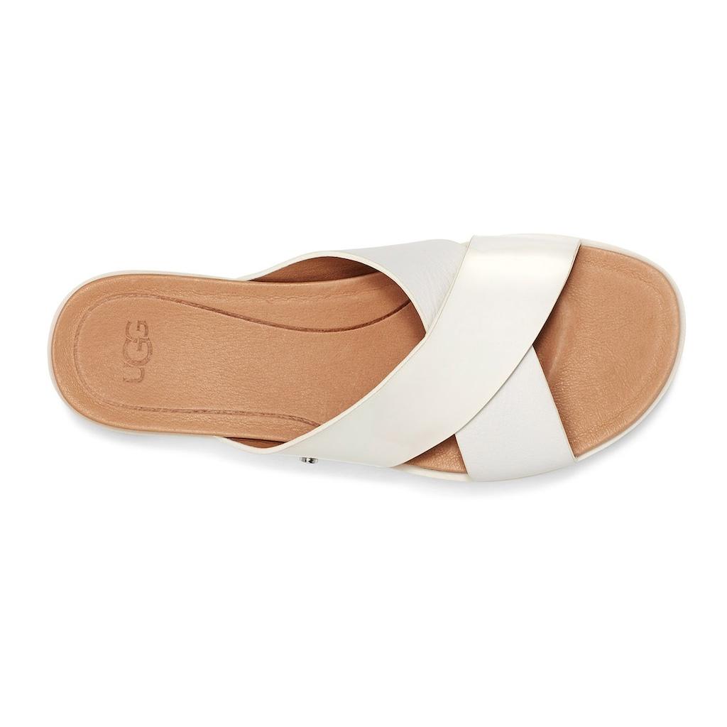 UGG Pantolette »Kari«, im glänzenden Look