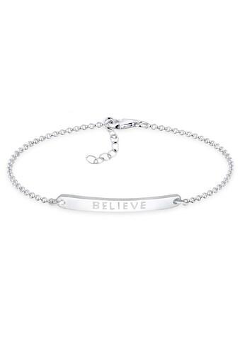 Elli Armband »Believe-Schriftzug 925 Sterling Silber« kaufen