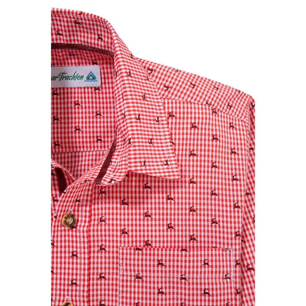 Isar-Trachten Trachtenhemd, Kinder, mit Knöpfen in Hornoptik