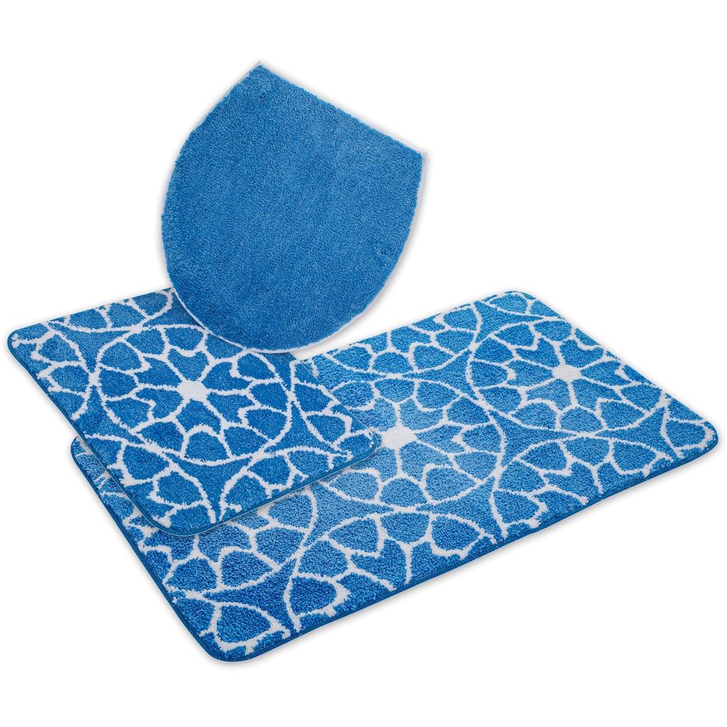 andas Badematte »Mosaik«, Höhe 15 mm, strapazierfähig, besonder weich durch Microfaser