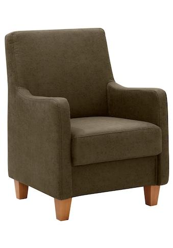 Home affaire Sessel »Palmera«, Federkern-Polsterung, in 4 Bezugsqualitäten kaufen