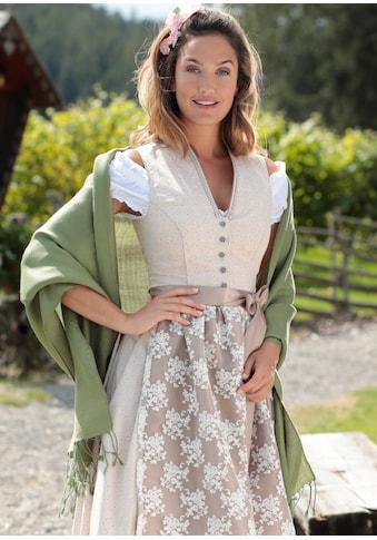PURSET Schal, Stola mit feiner Musterung und Fransen kaufen