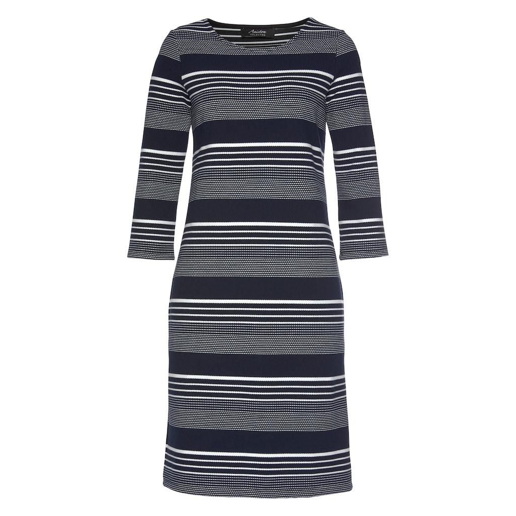 Aniston SELECTED Jerseykleid, im edlen Streifen-Dessin