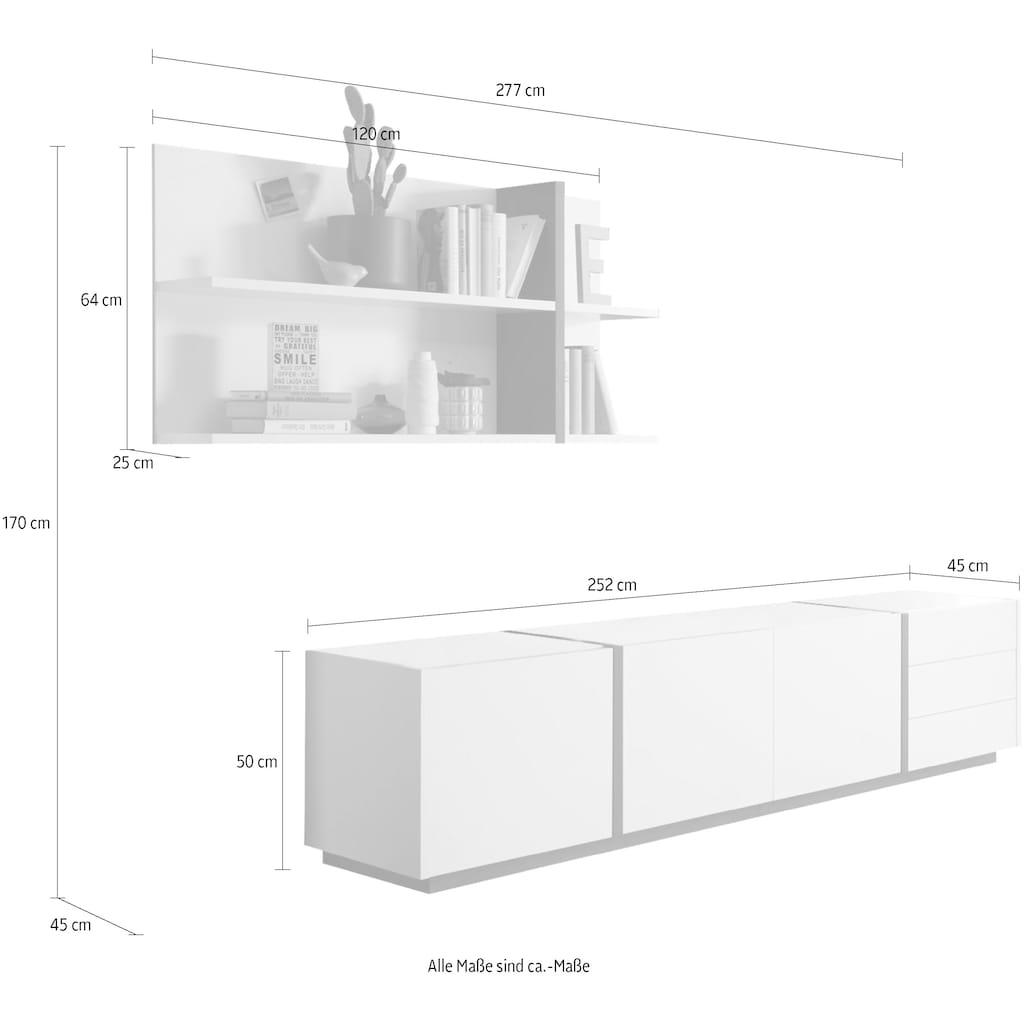 INOSIGN Wohnwand »CAiO«, (Set, 2 St.), Breite ca. 277 cm