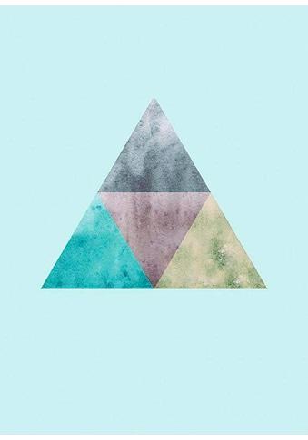Komar Poster »Triangles Top Blue«, Formen-Kunst, Höhe: 50cm kaufen